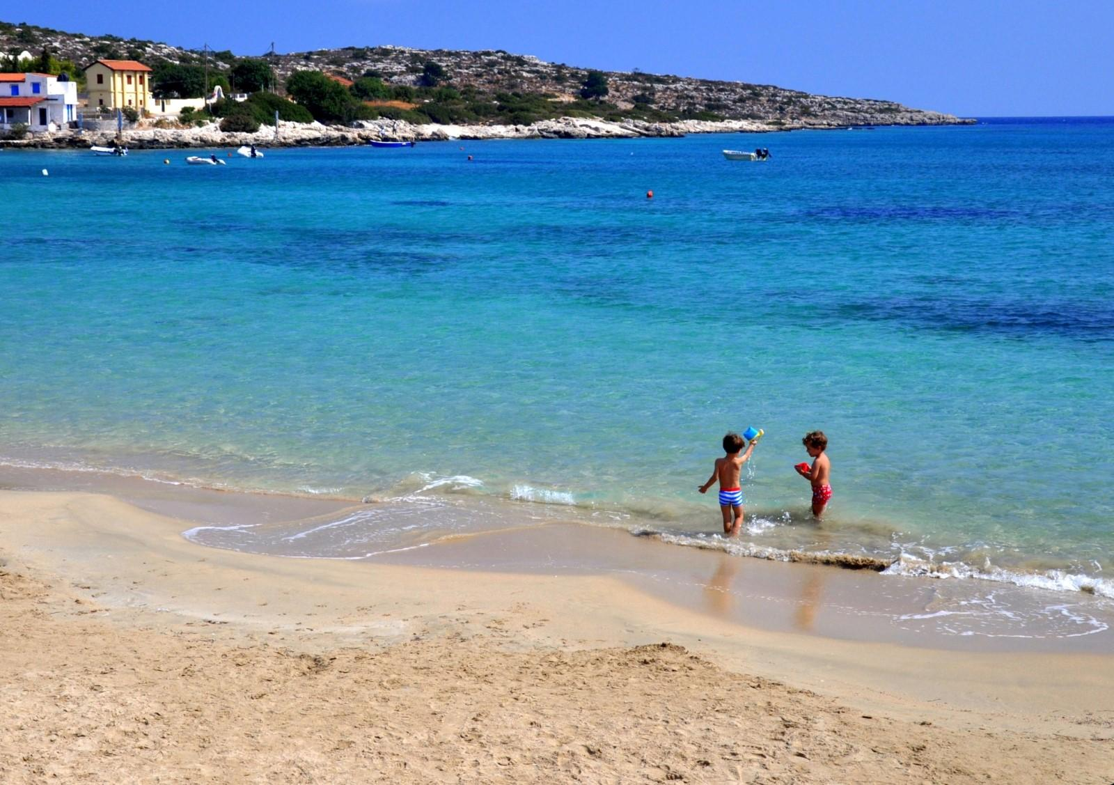 Marathi beach Chania KidsLoveGreece.com