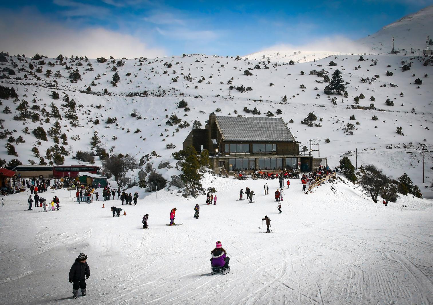 Parnassos ski center Arachova