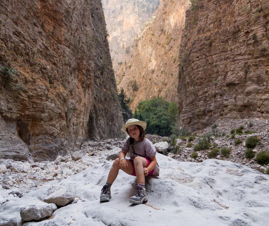 Hiking in Crete with kids Samaria