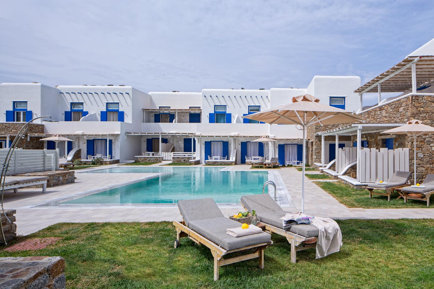family villas in Ornos Mykonos Cyclades Ianera Ianessa kids love greece accommodation for families