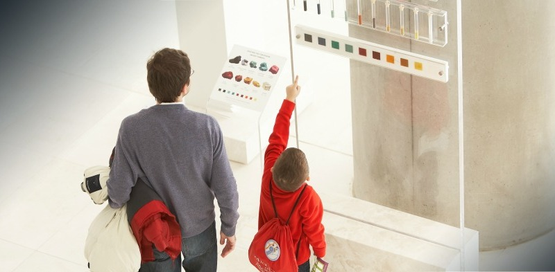 family tour in Acropolis museum