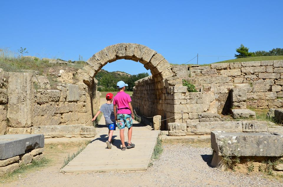 kids love greece ancient olympia with the family guided tours Peloponnese activities