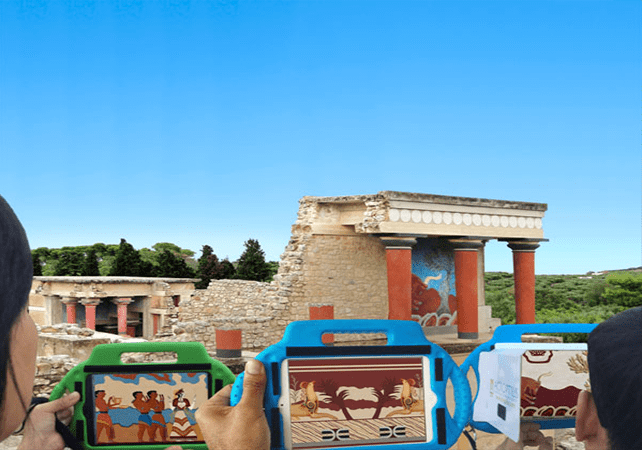 Palace of Knossos 3D app guiding tool families tours Crete kids love greece family activities tablets virtual reality