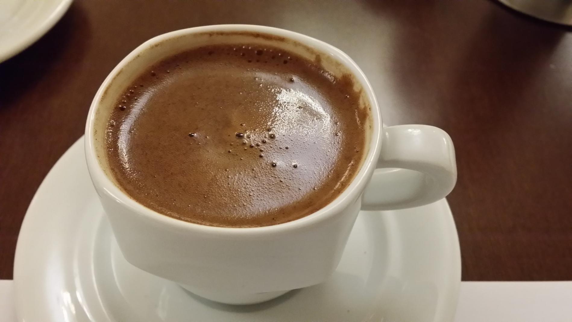 Greek coffee breakfast