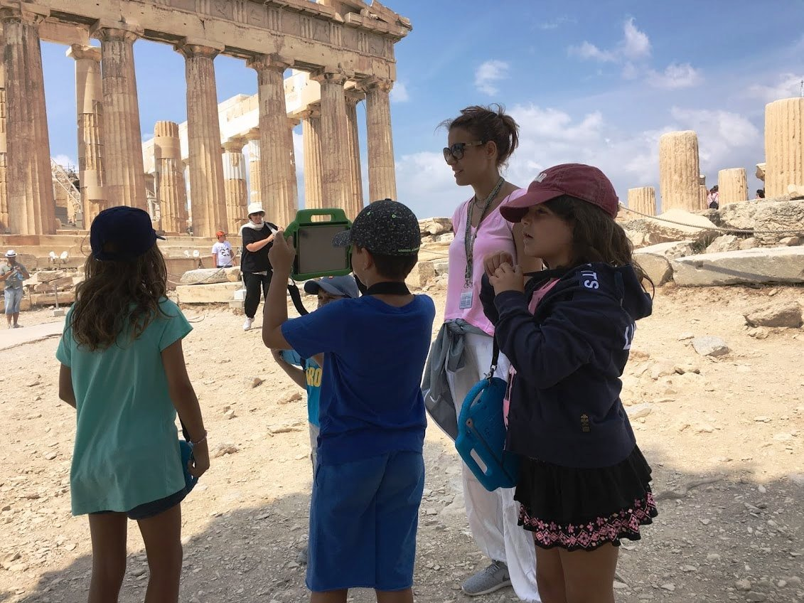 Acropolis tablets Percy Jackson Mythology Family Trip 3-day Package family guided tour kids love greece Athens