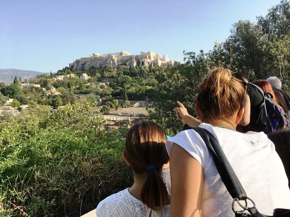 Percy Jackson Mythology Family Trip 7-day Package Acropolis tablets Ancient Agora family guided tour kids love greece Athens