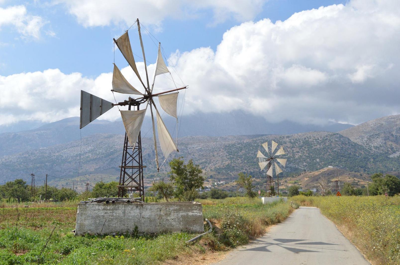 Lasithi plateau windmills Crete KidsLoveGreece.com