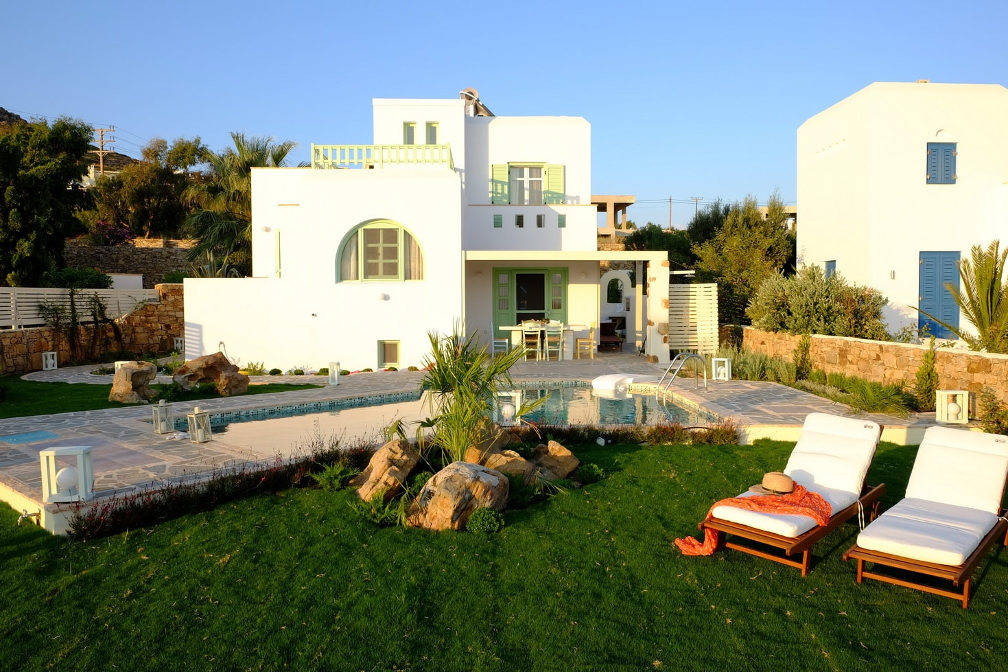 Naxos private 3 bedroom family villa valea kids love greece accommodation for familes