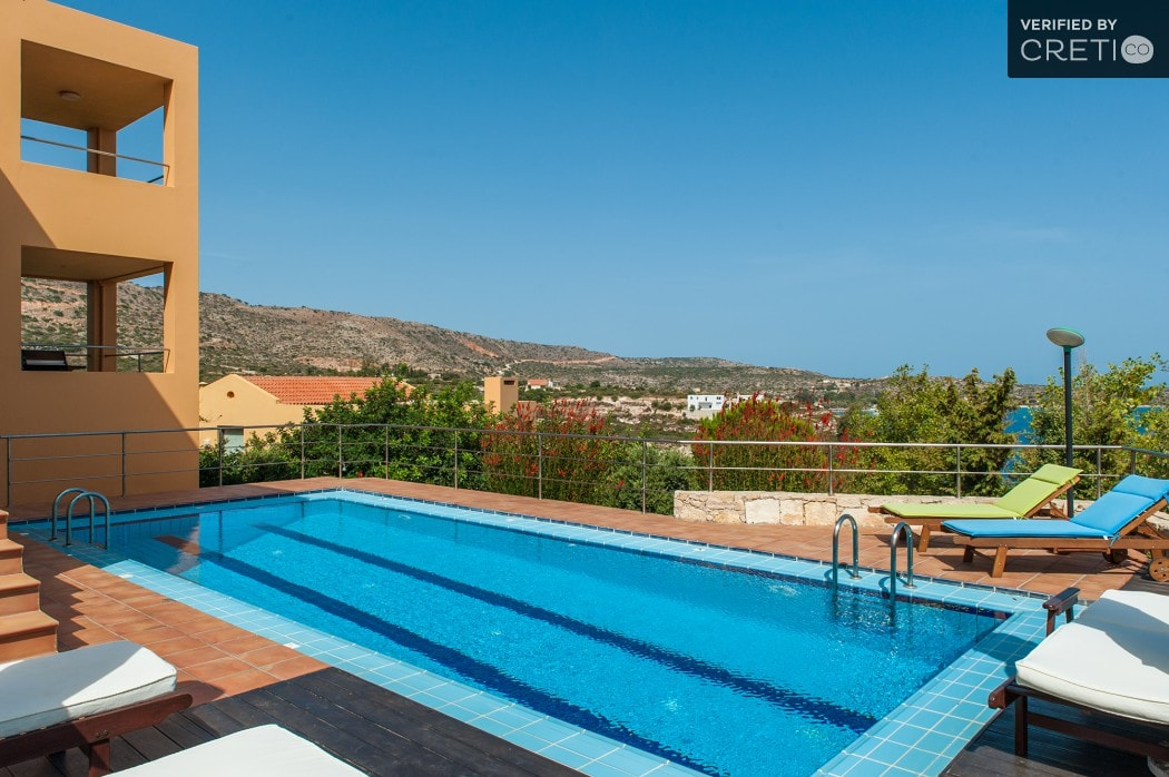 family pool villa loutraki chania crete kids love Greece accommodation villa daphne
