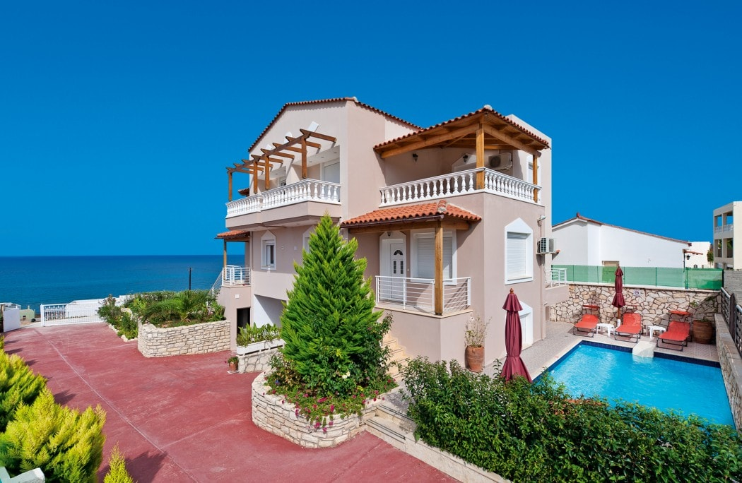 family villa apollon rethymno crete kids love greece accommodation for families cretan sea