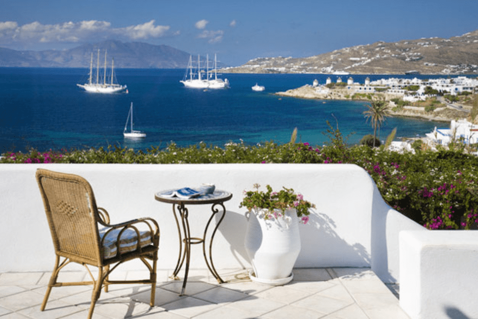 large luxury family vacation villa in Mykonos island the megali ammos villa cyclades kids love greece accommodation for families