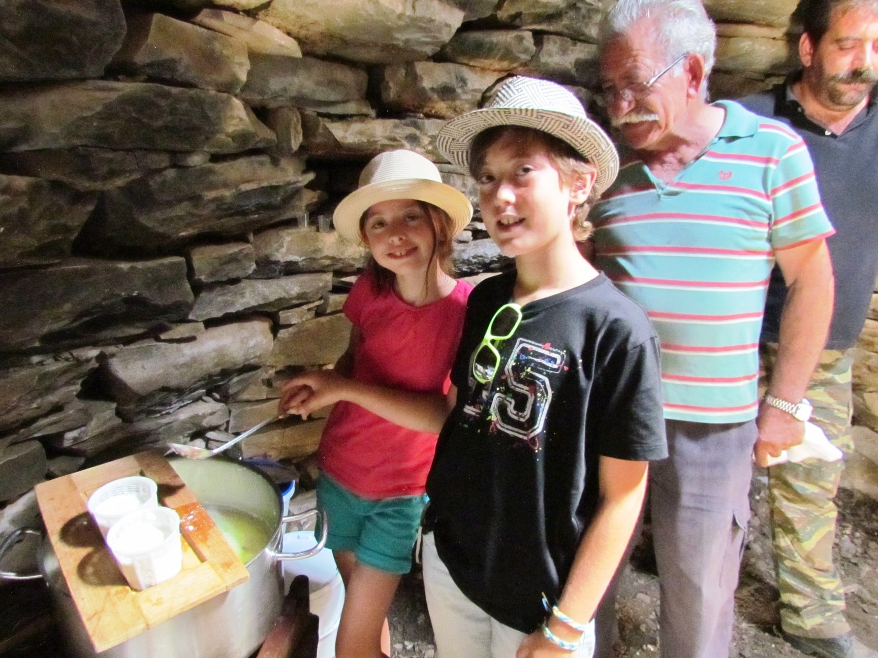 family guided tour kids love greece activities for families Crete Traditional Cretan Cheese Tasting and Making