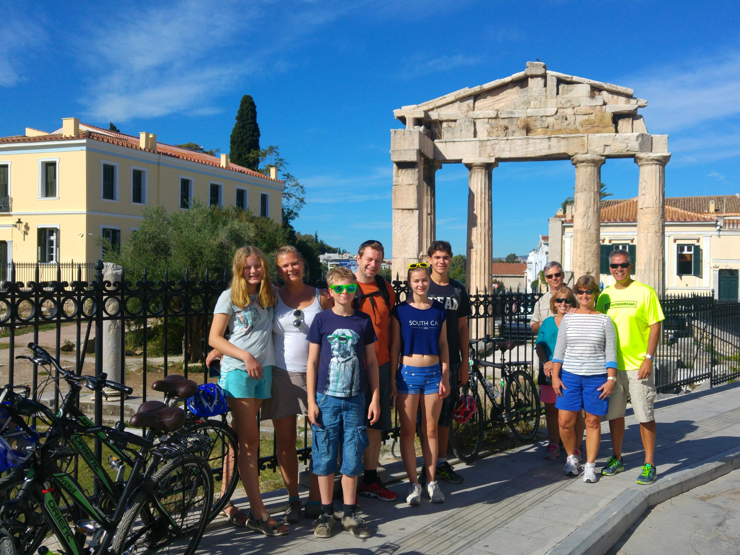 See Athens by Βike Family biking activity in Athens kidslovegreece Greece children sightseeing Acropolis city tour bicycles cycling monuments private specially designed amazing experience