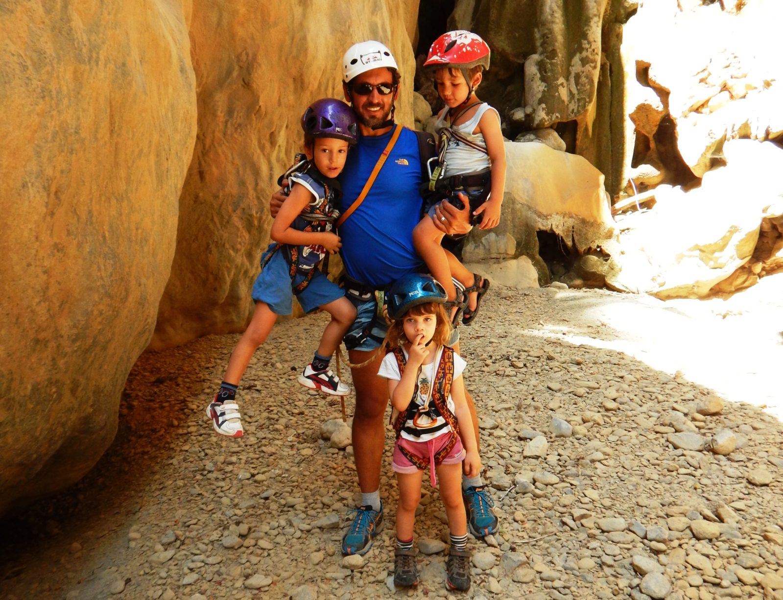 crete outdoor activities kids love greece canyoning family adventure