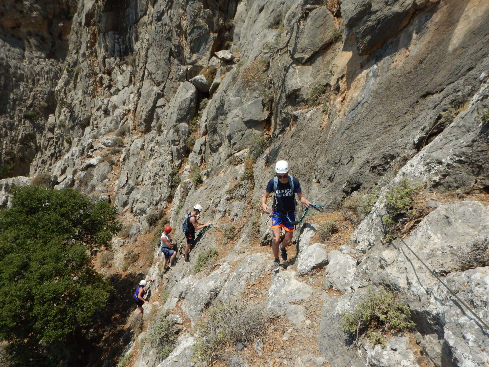 outdoor activities via ferrata for families kids love greece crete