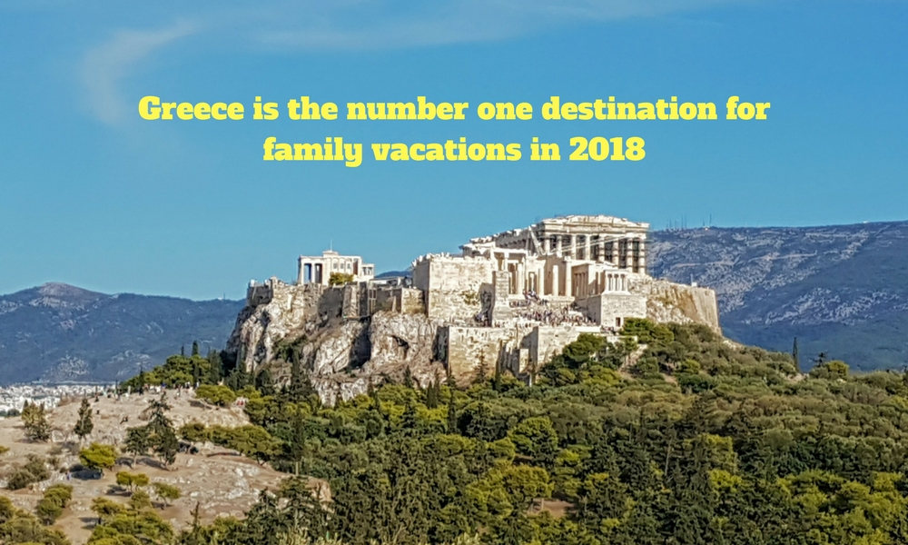 Greece is the number one destination for family vacations in 2018