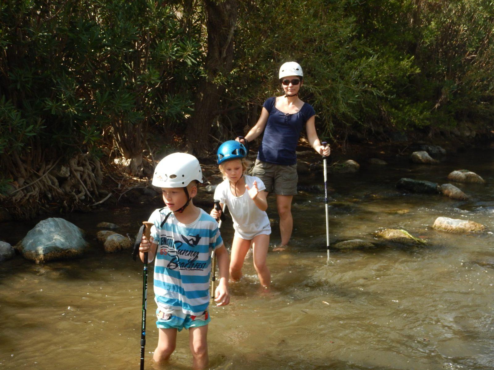 Crete kids love greece river trekking outdoor family adventure Rethymno activities
