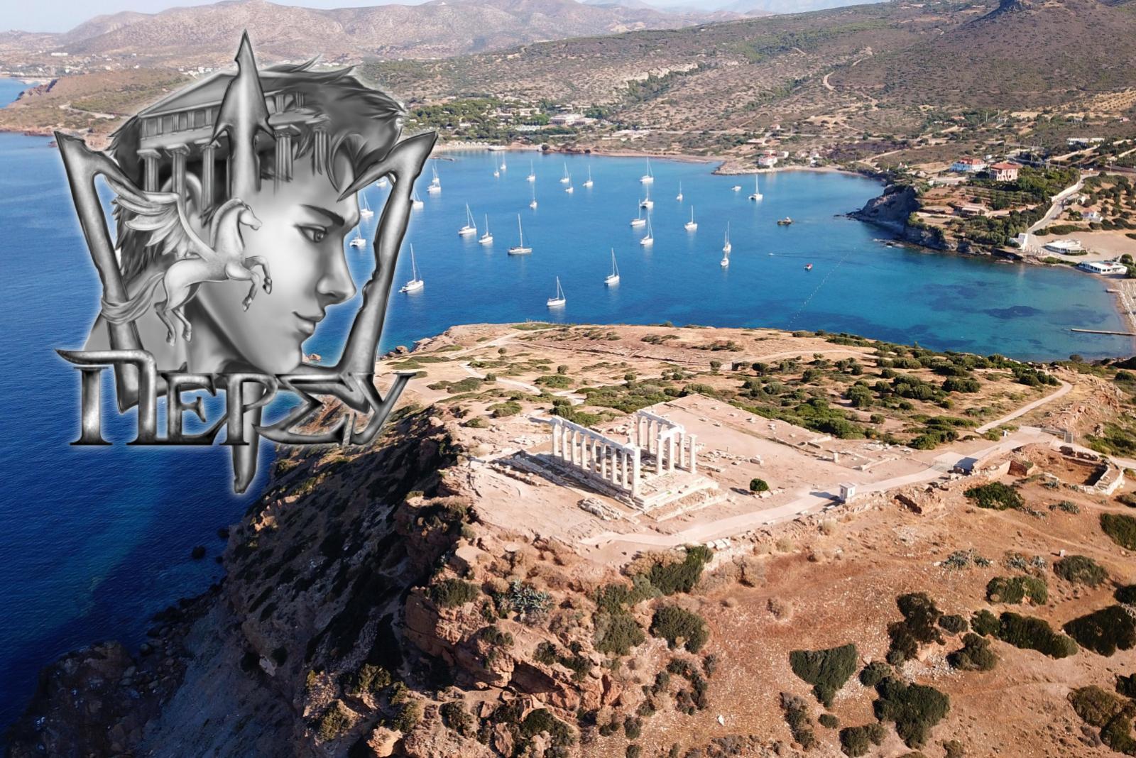 Percy Jackson temple of Poseidon Sounio Greece mythology tour KidsLoveGreece.com