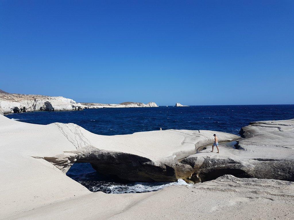 Sarakiniko beach in Milos island