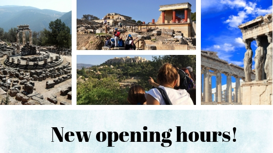 Greek archaeological sites and Museums are open for longer hours
