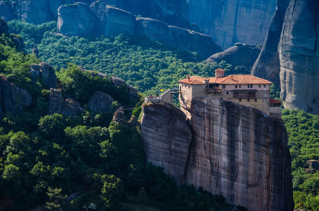 Meteora Monasteries hanging from the cliffs