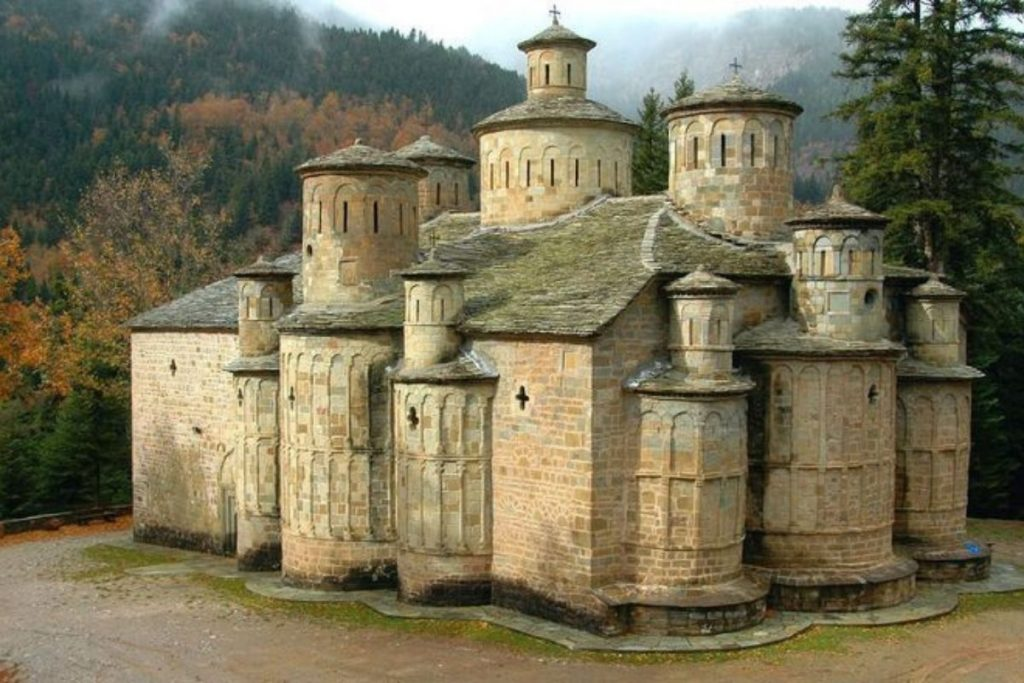monastery with thirteen domes pindos